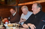 Drew Bachman, Dave Howe texting, Germany??, & Buzzie Davis @ Bart's Holiday Luncheon 2012