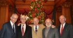 Fred Sargent, Drew Anthon, George Watt, Will Siegfried & Jeff Kumer @ Duquesne Club for Annual Christmas Luncheon 2012