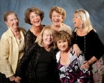 Missy (Ann) Dinneen, Flicka Rahn, Candy Willison, Babs Seamans, Marcia Service and Harriet Good at Reunion 50