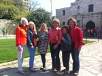 Melissa Booth, Candy Willison, Harriet Good, Babs Seamans, Marcia Service, & Flicka Rahn at The Alamo 2013
